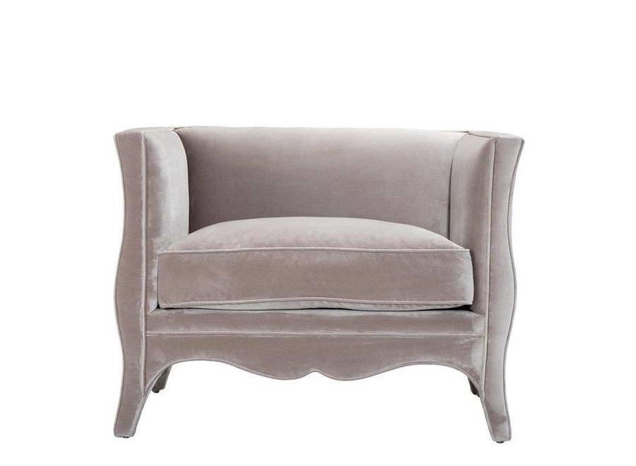 Fauteuil 'Bouton' Bague Grey Velvet