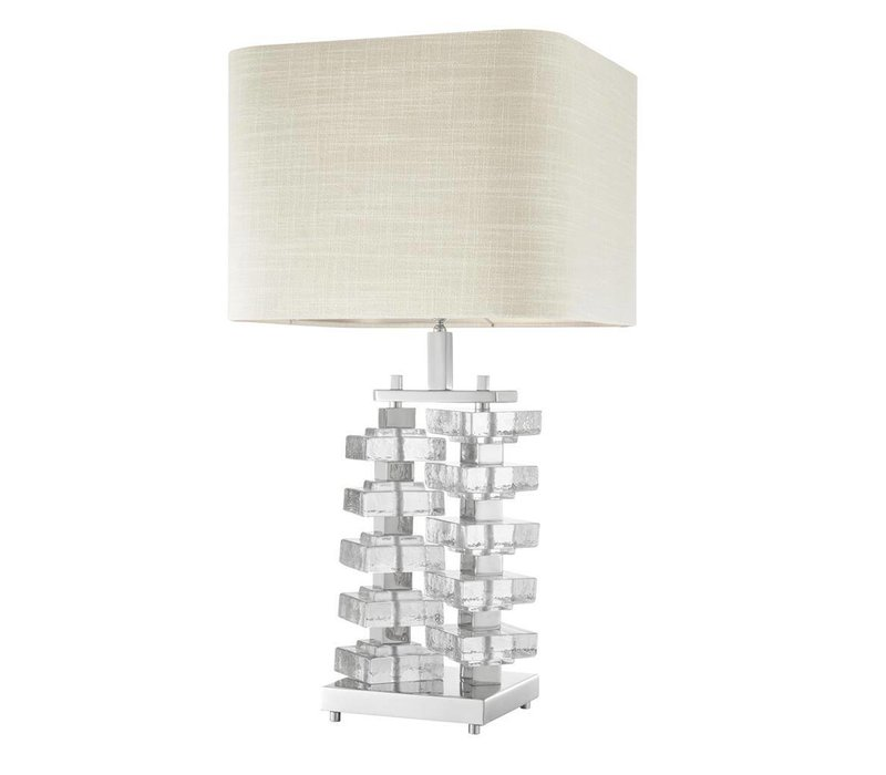 Table lamp 'Toscana' with natural linen shade