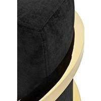 Sessel 'Emilio' Black Velvet with Gold Finish
