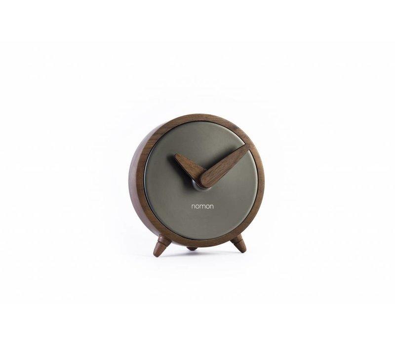 table clock Atomo Sobremesa in graphite finish