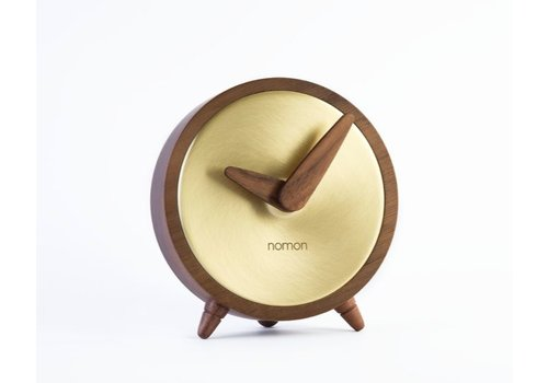 Nomon table clock 'Atomo Sobremesa' Gold