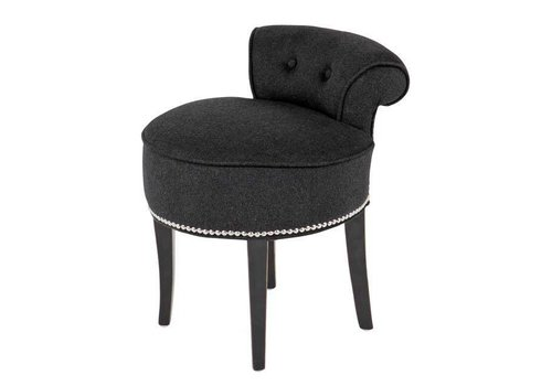 EICHHOLTZ Armchair 'Sophia Loren' Black Cashmere