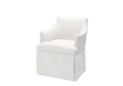 EICHHOLTZ Chair 'Lucille' Linen herringbone
