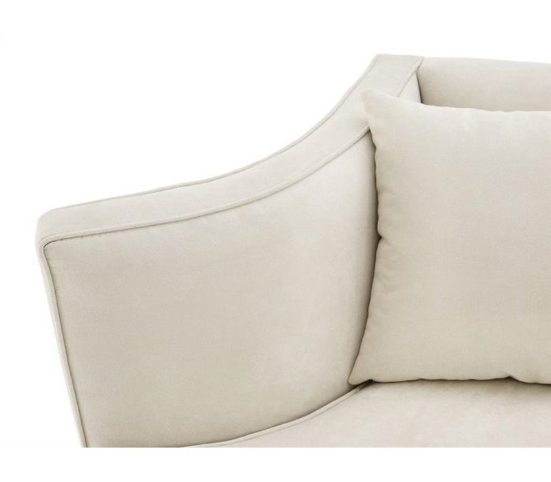 Ecru Velvet Two-Seater Sofa 'Giulietta'