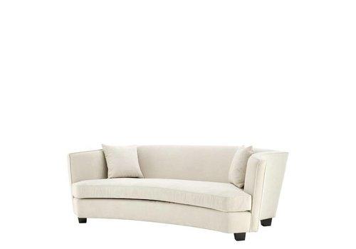 EICHHOLTZ Ecru Velvet Three-Seater Sofa 'Giulietta'