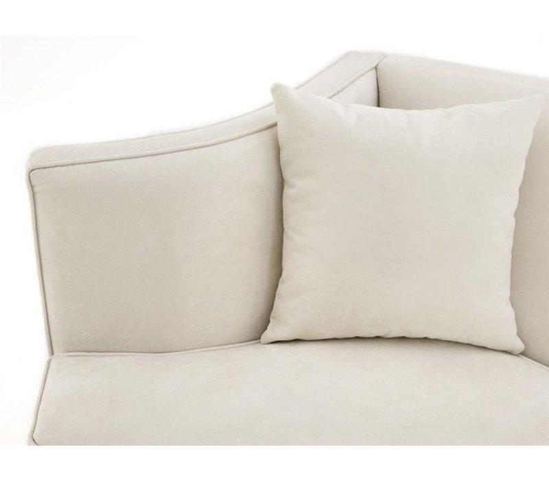 Sofa 'Giulietta' Ecru Velvet Dreisitzer