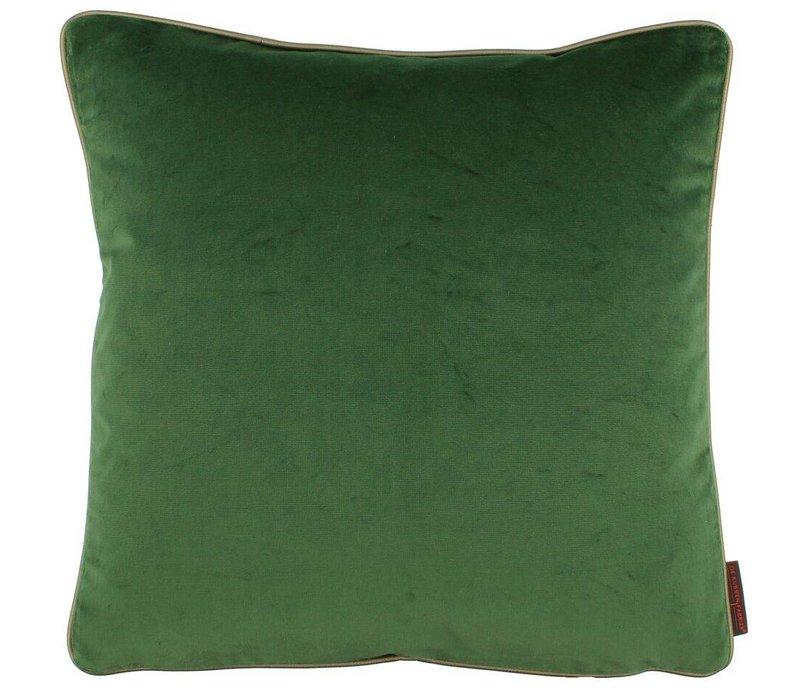 Cushion Saffi Dark Green with Gold piping