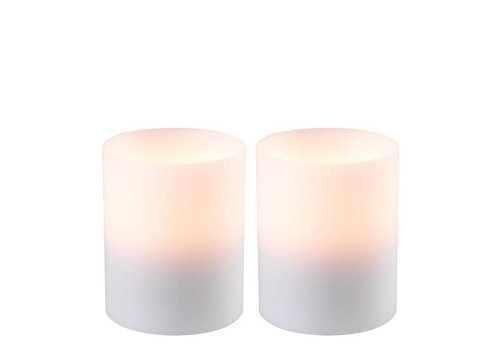 EICHHOLTZ Kerzenständer  'Artificial Candle deep set of 2 Small'