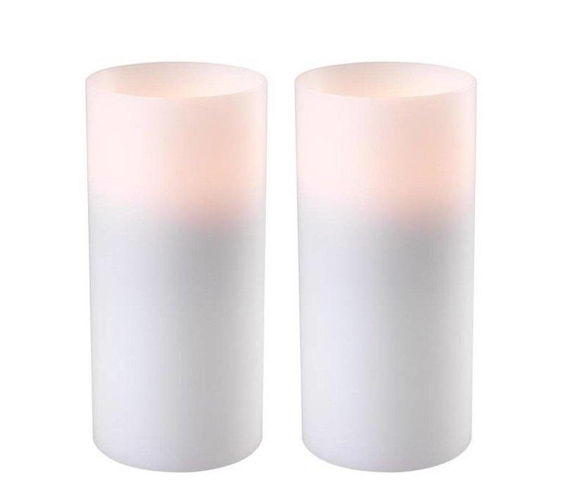 Kaarsenset  'Artificial Candle deep set of 2 Large'