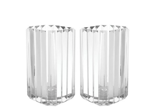 EICHHOLTZ glass candle holders 'Howell' S/2