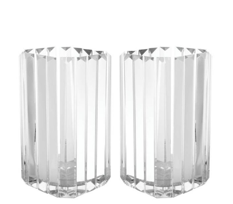 """glass candle holder """"Howell"""" Set of 2"""