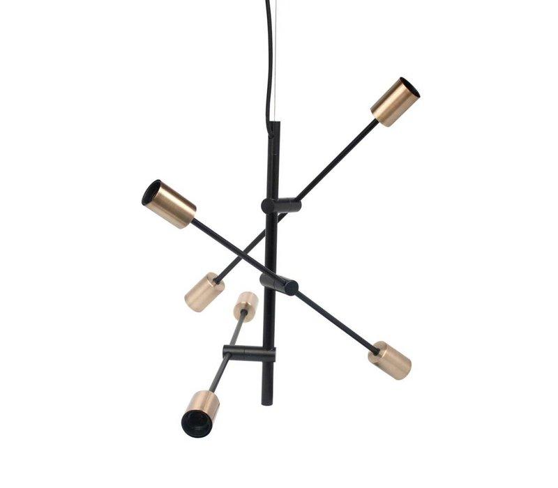 Die Hängelampe Pendle Metal Black & Gold L75 x B75 x H100 cm