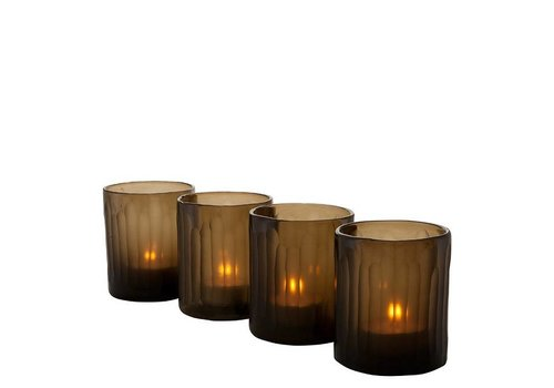 EICHHOLTZ Tea Light Holder 'Astor S/4 Brown'