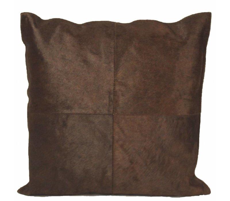 Cushion Cowhair Brown