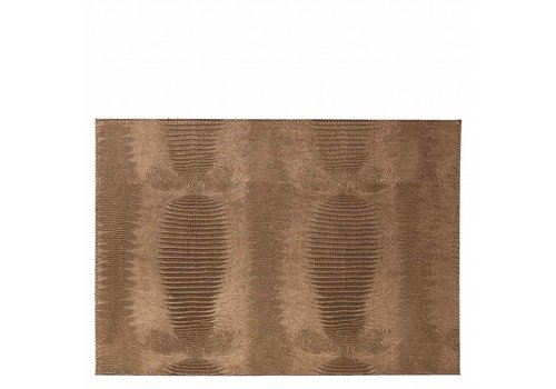 Dome Deco Placemat 'Lizard' Bronze - Set van 2