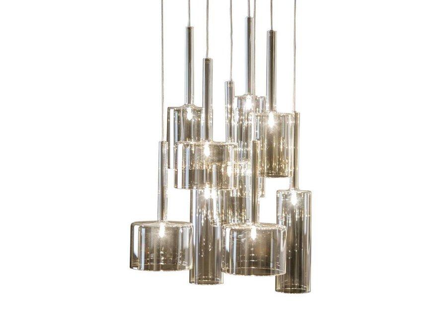 Hanglamp 'Pendle Glass' Taupe