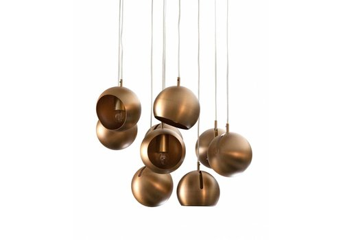 Dome Deco Hanging Lamp 'Pendle Metal' Gold