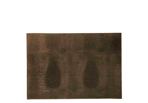 Dome Deco Placemat 'Lizard' Brown - Set van 2