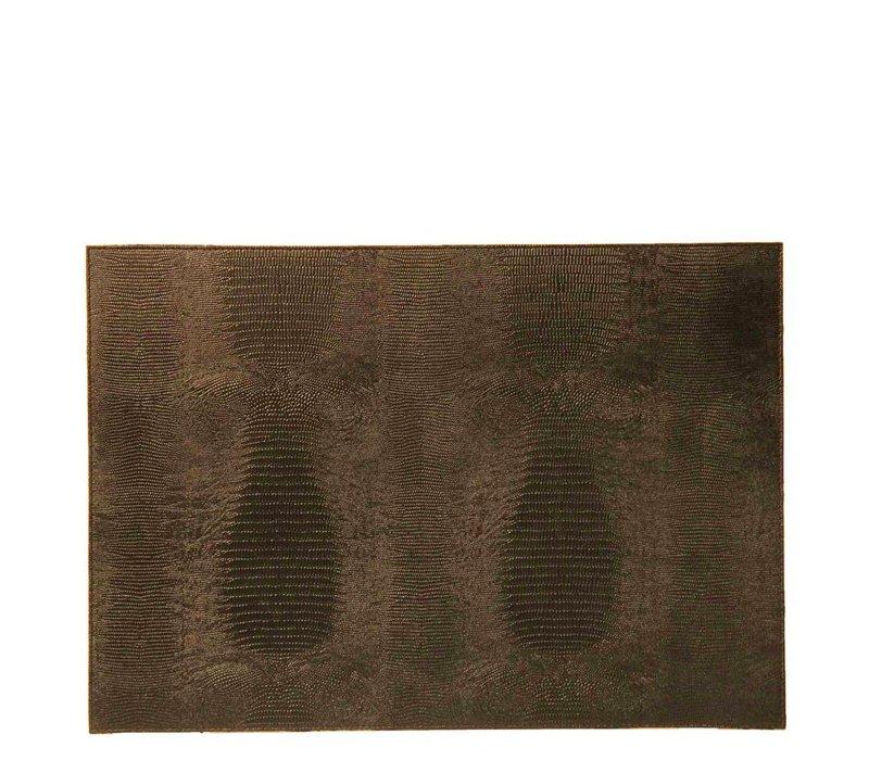 Placemat 'Lizard' in de kleur Brown - Set van 2 stuks