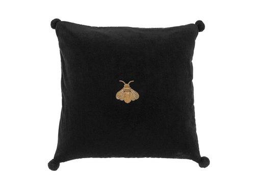 EICHHOLTZ Pillow 'Lacombe' Black Velvet 60 cm