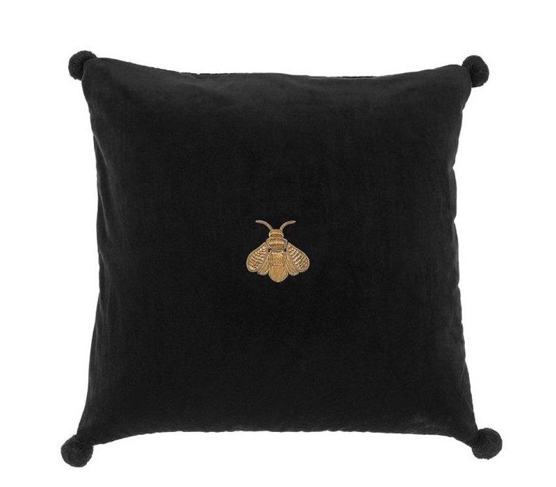 Pillow 'Lacombe' Black Velvet 60 cm