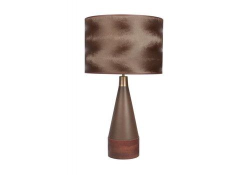 Dome Deco Table lamp Wood&Aluminium' Brown