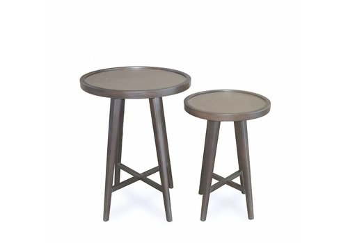 Dome Deco Wooden side tables 'Tura' set of 2