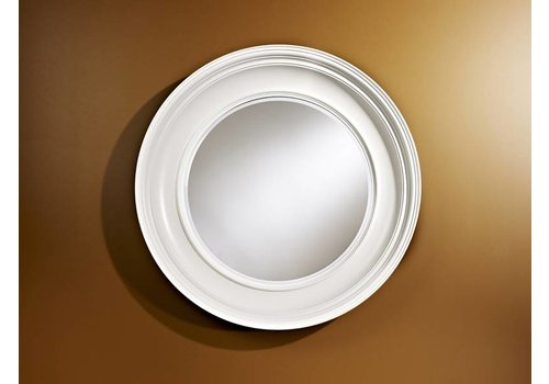 Deknudt Large round white mirror