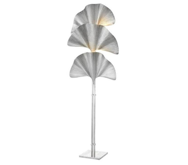 Floor Lamp 'Las Palmas' Tarnished Silver