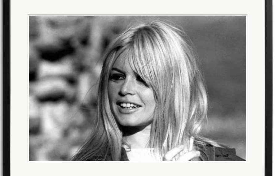 Black-and-white pictures of Brigitte Bardot are wonderful accessories.