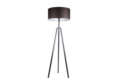 Dome Deco Floor lamp 'Fassani' with black iron base