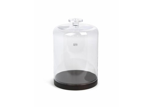 Dome Deco Glass Bell with wooden base - M