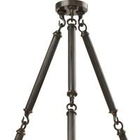 Chandelier Infiity Double gunmetal finish, diameter 67cm