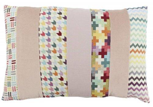De Kussenfabriek Cushion Kim Multicolor Light Rose