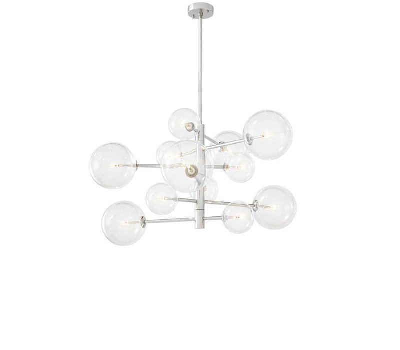 Chandelier Argento S with a diameter of 90 cm