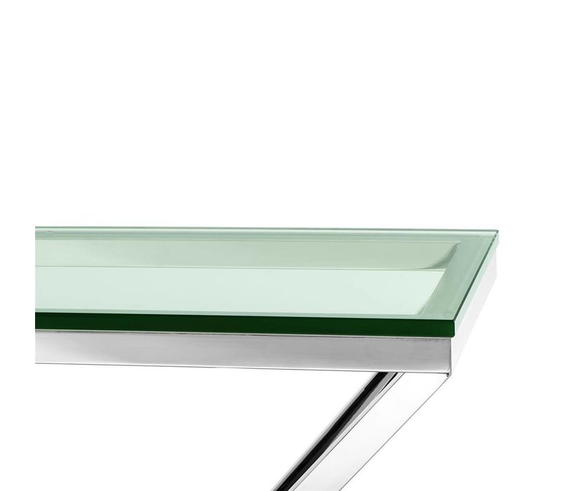 Glass Console table 'Connor' 90 x 30 x H. 82 cm