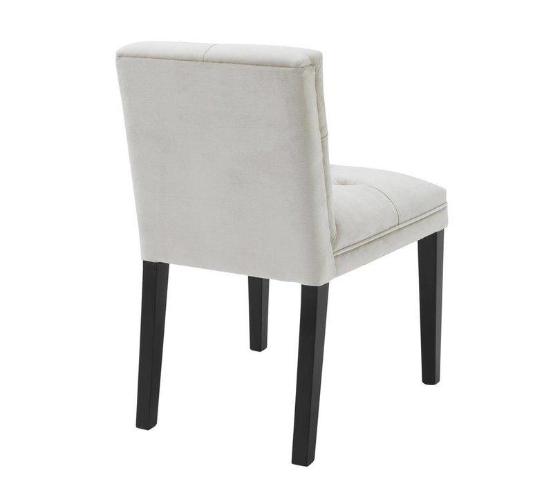 Dining chair black 'Cesare' Pebble Grey