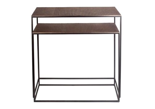 Dome Deco Console table Bronze - set of 2