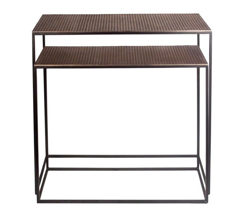 Console table Bronze - set of 2