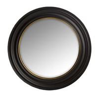 round design mirror in black frame, 'Cuba' large