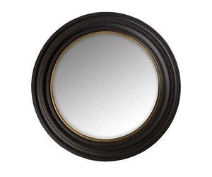 Zwarte Ronde Spiegel : Spiegel inge zwart metaal kopen goossens