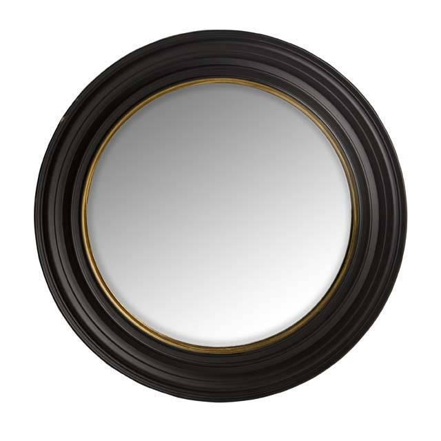 Eichholtz runder designer spiegel 39 cuba 39 farbe schwarz mit gold detail wilhelmina designs - Runder spiegel schwarz ...