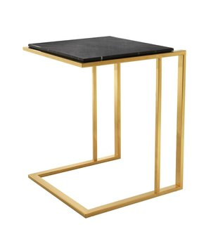 Eichholtz Marble side table 'Cocktail' 45 x 45 x 58cm (h) - Gold