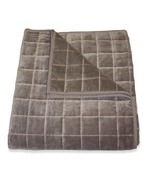 Dome Deco Bedsprei + 2 kussens 'Sham' in de kleur grijs