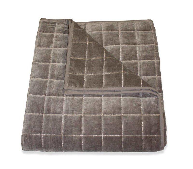 Bedsprei + 2 kussens 'Sham' in de kleur grijs