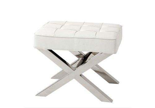 EICHHOLTZ Footstool white Beekman Place 60cm