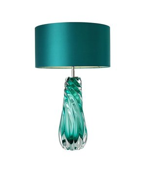 Eichholtz Table lamp 'Barron' stainless steel with a shade in turquoise