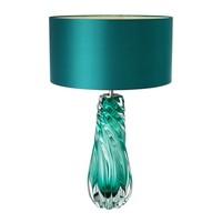 Tafellamp 'Barron' met turquoise kap, 67cm hoog