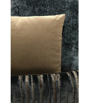 Claudi Cushion combination Petrol & Beige: Vibeka, Kendale & Zafira