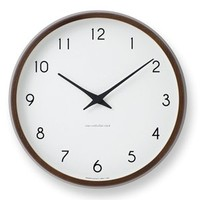 Designer wall clock Campagne with silent sweep movement
